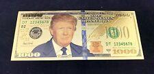 "DONALD TRUMP ""Federal Trump Note"" Gold-Plated $1000 Commemorative Bills - RARE!"