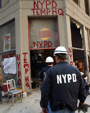 NYPD TEMPORARY HEADQUARTERS 8X10 PHOTO 9/11 NYC