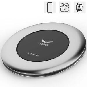Qi Wireless Charging Pad Fast Charger Dock for iPhone 11/X/XS/XR Galaxy S20/S10+