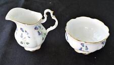 Vintage ROYAL ALBERT Bone China England BLUE BELL Pattern Set Creamer Sugar Bowl