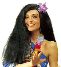 Hawaii Girl Perücke mit Blüte für Damen NEU - Karneval Fasching Perücke Haare