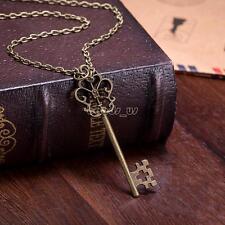 Comeon Women 18.1 Antique Bronze Treasure Key Pendant Chain Necklace 15x60mm