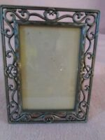 "Vintage Pewter Picture Frame holds One 3 x 5"" Photo"