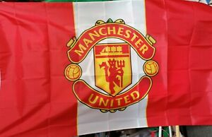 Manchester United football club flag 5ft x 3ft.