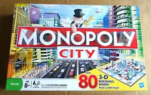 MULTI-LIST OF HASBRO MONOPOLY CITY 2008 BOARD GAME SPARES FREE UK P/P