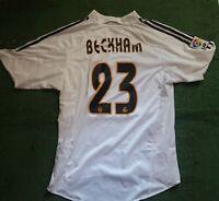 Real Madrid football Shirt BECKHAM 23 maglia calcio jersey trikot adidas vintage