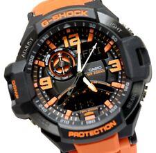 Casio G-Shock Mens Wrist Watch Twin Sensor GA1000-4A GA-1000-4ADR Black Orange