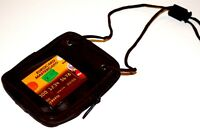 Brown Cowhide Leather Passport Phone Sling Travel small Messenger purse SALE