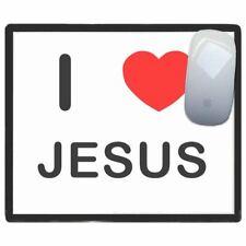 I Love Corazón Jesús - Fino Pictoral Plástico Ratón Almohadilla Tapete