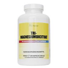 Pro Natural 240 Kapseln Magnesium 780mg Magnesiumcitrat pro Vegan Kapseln