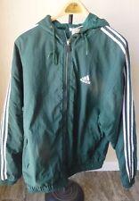 Vintage Adidas Track Jacket Windbreaker Green White Stripes Size Large