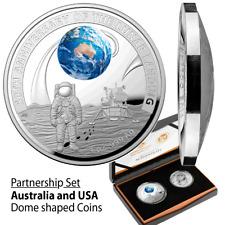 Australien - 5,50 Dollar 2019 - 50 Jahre Mondlandung Satz - 2 Werte Silber + CN