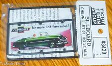 Tichy Train Group #8429 Billboard Kit Plastic / Chevrolet 51  (HO Scale)