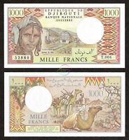 DJIBOUTI 1,000 1000 Francs, 1988, P-37e, UNC