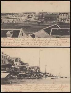 CURACAO Karibik 1902 PK Het Waaigat+ Waterkant Willemstad -> Maracaibo Venezuela