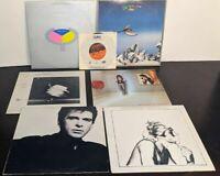 Lot of 7 70/80s Prog Rock Vinyl LP Robert Palmer YES Peter Gabriel Robert Plant