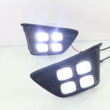4LEDs 12W 6000k Fog Lamp Daytime Running Lights LED DRL for Honda Fit Jazz 2014+