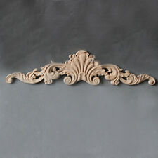 30*8cm Wood Carved Corner Craft Onlay Applique Home Door Frame Unpainted Decor