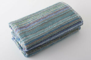 Multi Stripe 100% Recycled Eco Friendly Cotton Towels