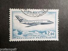 FRANCE 1965 timbre 42, AVION MYSTERE 20, POSTE AERIENNE, oblitéré AIRMAIL