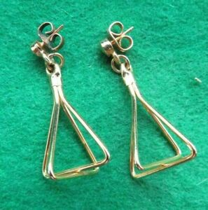 STUNNING GOLD ? VINTAGE DROP EARRINGS  SCRAP  HOUSE CLEARANCE