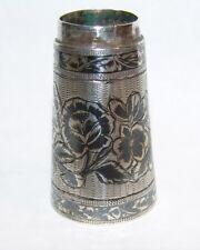 Antique Russia Russian Niello Silver Cane Head Walking Stick Holder