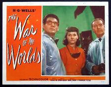 WAR OF THE WORLDS H.G. WELLS SCI-FI 1953 LOBBY CARD #7