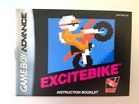 Excitebike Authentic Nintendo Game Boy Advance GBA Original Instruction Manual