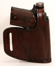 Sig Sauer P938 Kimber Micro 9 Colt Mustang Handmade Leather Belt Slide Holster