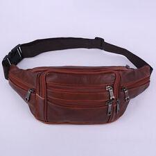 Men Vintage Leather Waist Bag Cell Phone Holder Belt Fanny Pack Purse Bag Wallet