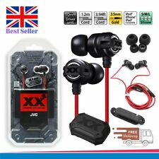 JVC EXTREME EXPLOSIVES HA-FX1X XX IN-EAR HANDSFREE DEEP BASS STEREO EARPHONES
