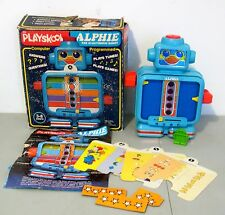 Vintage Playskool ALPHIE THE ELECTRONIC ROBOT in Box Cards Accessories 1978