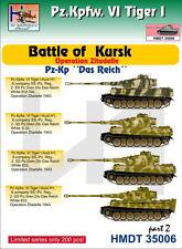 """H-modèle Decals 1/35 Pz. Pour Kpfw. VI Tiger I Battle of Kursk (Pz. Kp. """"DAS REICH""""), par"""