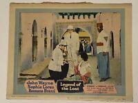 1957 The Legend of the Lost #6 Lobby Card 11x14 John Wayne, Sophia Loren, Rossan