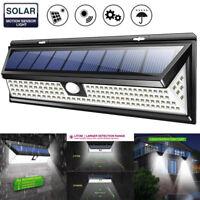 118/120LED Solar Power PIR Motion Sensor Wall Light Waterproof Outdoor Yard Lamp