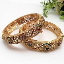 Indian Bridal/Party Wear Polki Bangles Size:(2.8)(Set Of 2)