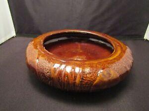 Uhl Pottery Bowl Brown Glaze Vintage