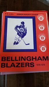 1978-79 CHILLIWACK COLTS @ BELLINGHAM BLAZERS BCHL BCJHL PROGRAM FINLAND DORP
