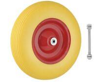 Schubkarrenrad Vollgummi PU Ersatzrad Gummirad Reifen 4.80/4.00-8 Achse #4235