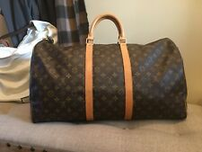 Louis vuitton Keepall 55 Leather Canvas Monogram Travel Luggage Duffle Bag