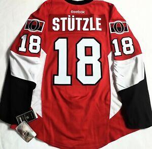 NWT-PRO-50 TIM STUTZLE OTTAWA SENATORS NHL CENTER ICE AUTHENTIC REEBOK JERSEY