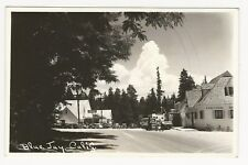 RPPC autos & businesses, Blue Jay, San Bernardino County, CA, ca1940s-50s