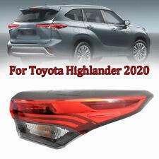 Tail Light For Toyota Highlander 2020 Right Passenger Rear Lamp Outer Side Brake