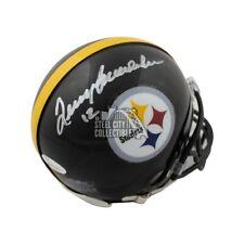 Terry Bradshaw Autographed Pittsburgh Steelers Mini Football Helmet - JSA COA