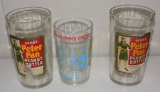 Vintage Peanut Butter Jelly Glasses Derby Peter Pan Peanut Butter Archie Welch's