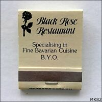 Black Rose Bavarian Restaurant 94 Acland St Kilda Ph 03 5346885 Matchbook (MK82)