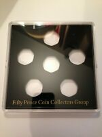 ACRYLIC COIN DISPLAY CASE,TRAY FOR 50 pence. coins not included