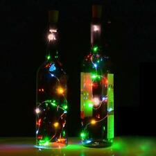 Solar Wine Bottle Cork Shaped String Light 10 LED Night Fairy Light Lamp Gift