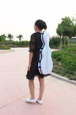 New style violin case 4/4 full size carbon fiber composite material white color