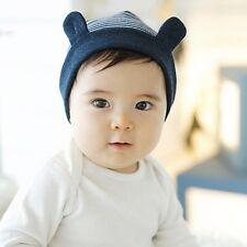 Rayas Stripy Sombrero Gorra infantil del Bebé Niño Niña Algodón Suave cálido con orejas